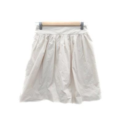【中古】アンタイトル UNTITLED スカート フレア ひざ丈 1 アイボリー /HO24 レディース 【ベクトル 古着】