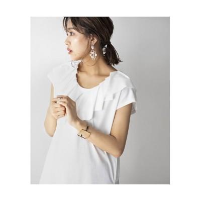 【ミリオンカラッツ】 ビックカラーフレンチスリーブTシャツ レディース オフホワイト F Million Carats