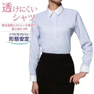 レディースシャツ 長袖 形態安定 ゆったり型 ORANGEFIELD P31RFE046