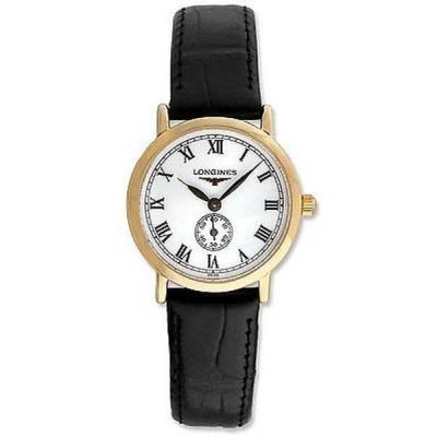 腕時計 ロンジン Longines レディース L42918212 'Flagship Heritage' 18k ローズ ゴールド ブラック レザー 腕時計