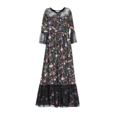 ブルーガール ブルマリン BLUGIRL BLUMARINE ロングワンピース&ドレス ブラック 38 ポリエステル 100% / ナイロン ロング