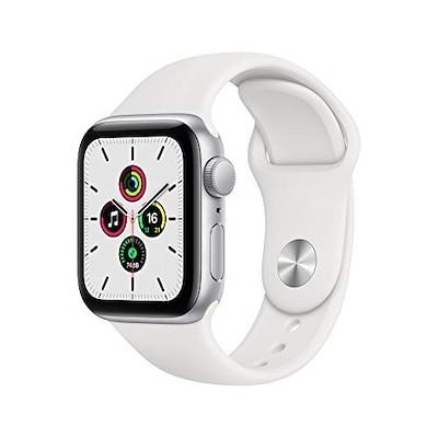 最新 Apple Watch SE(GPSモデル)- 40mmシルバーアルミニウムケースとホワイトス