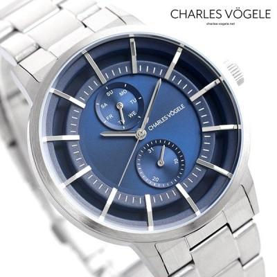 ポイント最大19倍 シャルルホーゲル 時計 M-5シリーズ 41mm デイデイト メンズ 腕時計 M-5 V0722.S04 Charles Vogele ブルー