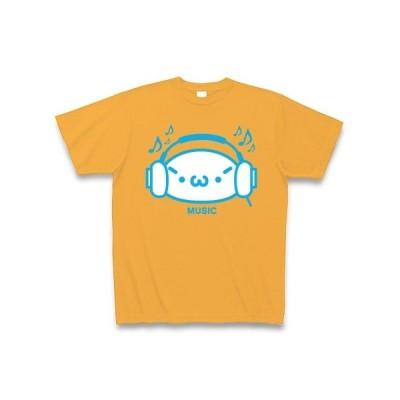 【音楽】シャキーンmusicバージョン2/ブルー Tシャツ Pure Color Print(コーラルオレンジ)