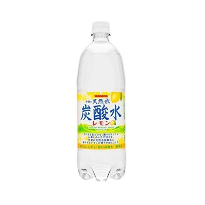 サンガリア 伊賀の天然水炭酸水 レモン (1LPET×12本)×2ケース