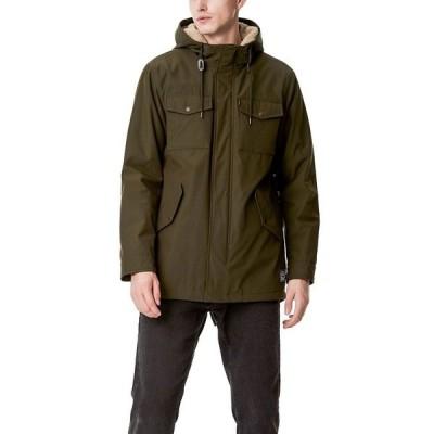 リーバイス ジャケット&ブルゾン アウター メンズ Men's Sherpa Lined Water Resistant Hooded Parka Olive