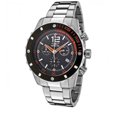 メンズ 腕時計 インヴィクタ New Men's Invicta 1245 Black Dial Swiss Quartz 45mm Bracelet Watch