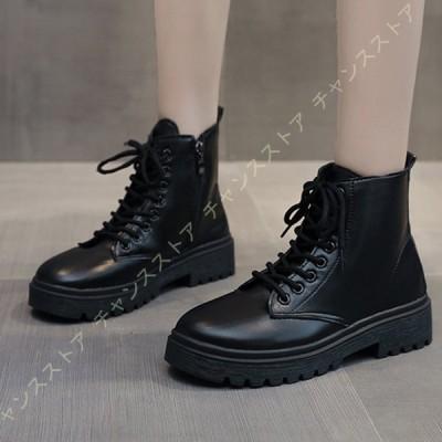 ロングブーツ サイドジップ ショートブーツ 裏起毛 ブーツ 袴ブーツ レディース 編み上げブーツ 黒 ショートレースアップブーツ 歩きやすい レディース靴