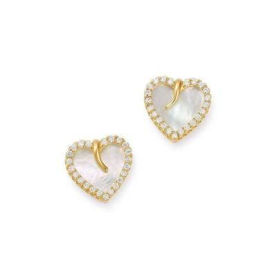 ロバートコイン レディース ピアス・イヤリング アクセサリー 18K Yellow Gold Mother-of-Pearl & Diamond Heart Stud Earrings - 100% Exclusive