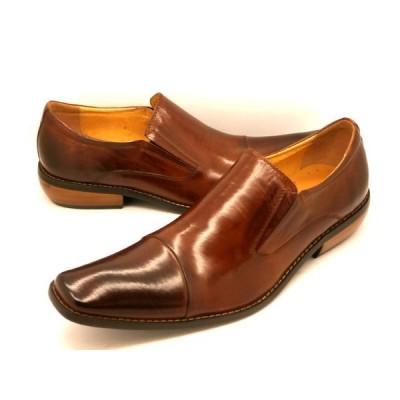 バンプアンドグラインド スリッポン ストレートチップ BG−2790(キャメル) Bump N' GRIND メンズ 靴