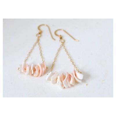 ハワイのジュエリー♪Gold Chain with Shellsピアス、ゴールドフィルド