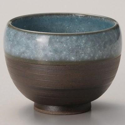 業務用食器 黒土かいらぎ青煎茶 φ8.7×7�(250�)