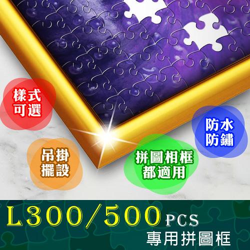 現貨-顏色隨機【台製拼圖】38x53cm 拼圖框/金屬框/拼圖鋁框 (適用部分520片拼圖)