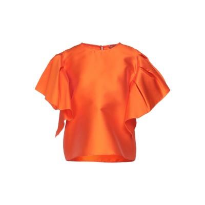 MAESTA ブラウス オレンジ 42 ポリエステル 85% / シルク 15% ブラウス