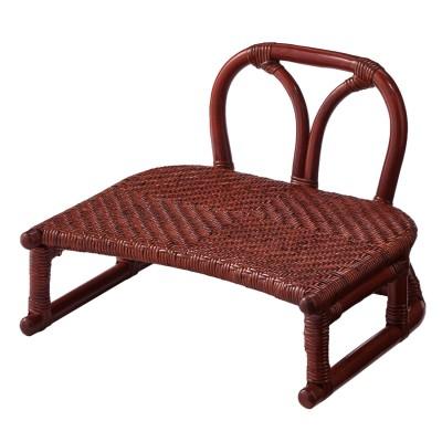 ラタンの背もたれ付き正座椅子