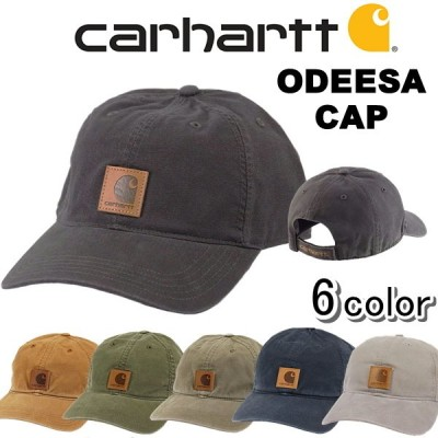 カーハート carhartt 帽子 キャップ ODESSA CAPフリーサイズ 6パネル ストラップバック ロゴ  おしゃれ メンズ レディース [帽子]