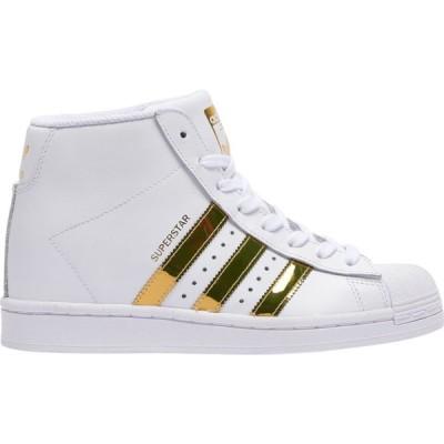 アディダス adidas Originals レディース スニーカー シューズ・靴 Superstar Up White/Gold Metallic/Black