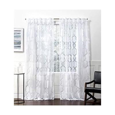 Exclusive Home Curtains リオHTカーテンパネル 54x84インチ 冬用 ホワイト輸入品