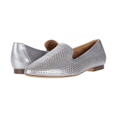 Naturalizer ナチュラライザー レディース 女性用 シューズ 靴 ローファー ボートシューズ Lorna - Silver Frost Metallic Tumbled Leather