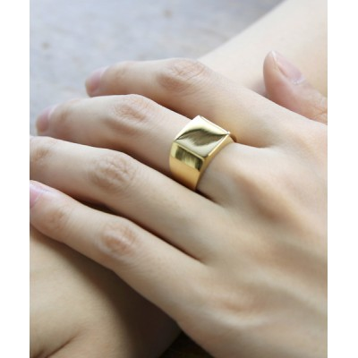 MAISON mou / 【YArKA/ヤーカ】rectangle plain ring[reck]/プレーン四角リング[レック] WOMEN アクセサリー > リング