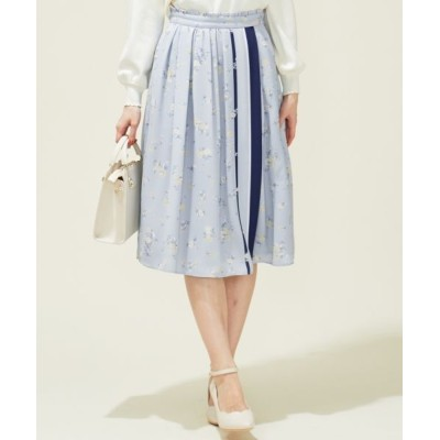 Feroux/フェルゥ 【洗える】フローラルパネルプリント スカート ミントベース 1