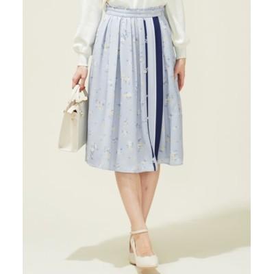 Feroux/フェルゥ 【洗える】フローラルパネルプリント スカート ミントベース 2