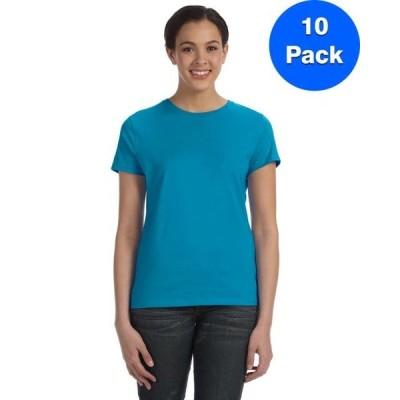 レディース 衣類 トップス Womens 100% Ringspun Cotton nano-T T-Shirt SL04 (5 PACK) Tシャツ