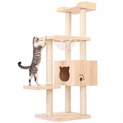 猫の家 猫ハウス猫家の猫のスクラッチボード木製家具とまり木プラットフォ (新古未使用品)
