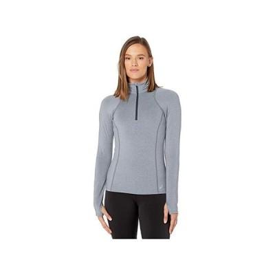 アシックス Thermopolis 1u002F2 Zip レディース Shirts & Tops Metropolis Heather/Graphite/Ice Mint