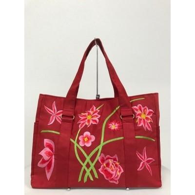 ベトナムバッグ 刺繍バッグ トートバッグバッグ 肩掛け 鞄 両面刺繍 花柄 ベトナム雑貨 アジアンバッグ