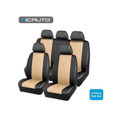 picauto車シートカバーセットforオート、トラック、van、SUV???PUレザーエアバッグ互換性、ユニバーサル