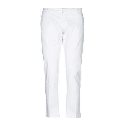 MASSIMO BRUNELLI パンツ ホワイト 38 コットン 97% / ポリウレタン 3% パンツ