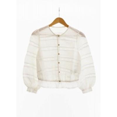 【中古】ヌキテパ NE QUITTEZ PAS! 18SS Cotton voile pin tuck blouse レース ブラウス 18SS-SD22 1● 200620 0015