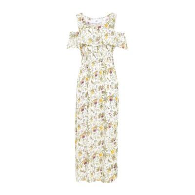 SH by SILVIAN HEACH ロングワンピース&ドレス ホワイト XS レーヨン 100% ロングワンピース&ドレス