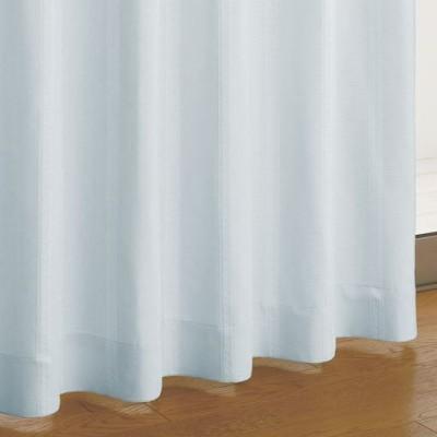 ジャカード織カーテン/ブルー/幅100×丈80(2枚組)