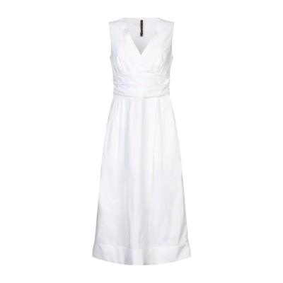 マニラ グレース MANILA GRACE 7分丈ワンピース・ドレス ホワイト 46 コットン 100% 7分丈ワンピース・ドレス