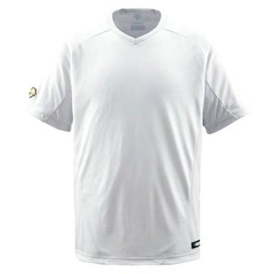 DESCENTE ヤキュウ ソフト V首Tシャツ 16SS Sホワイト Tシャツ(db202-swht)