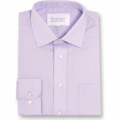 パラダイム Paradigm メンズ シャツ トップス Single Cuff 100% Cotton Non-Iron Shirt Lilac