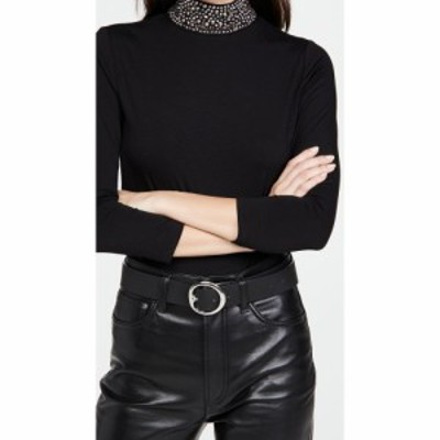 ラジャンス LAGENCE レディース トップス Mya Embellish Mock Neck Top Black/Black Hematite