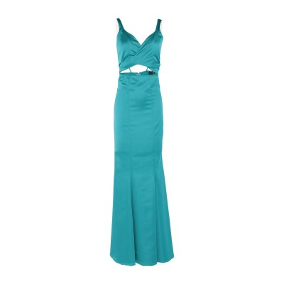 FRANCESCA & VERONICA FELEPPA ロングワンピース&ドレス ターコイズブルー 44 ポリエステル 96% / ポリウレタン