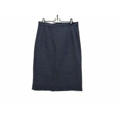 ジルサンダー JILSANDER スカート サイズ40 M レディース - ダークネイビー ひざ丈【中古】20201115