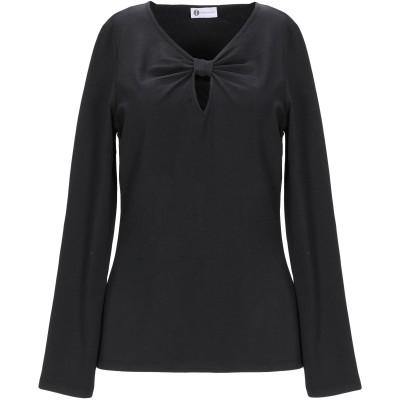 ディアナ ガッレージ DIANA GALLESI T シャツ ブラック 42 コットン 47% / レーヨン 47% / ポリウレタン 6% T シ