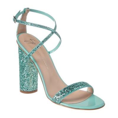 ジュゼッペザノッティ サンダル シューズ レディース Giuseppe Zanotti Glitter Leather Sandal green glitter leather