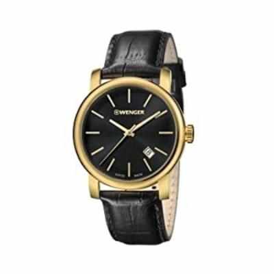 Wenger 01.1041.123 Men's Urban Vintage Black Dial Strap Watch