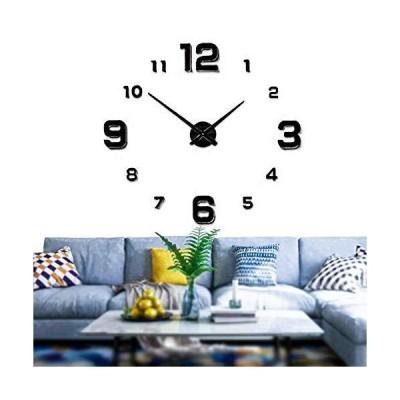 Mintime Modern Frameless DIY Wall Clock Large 3D Wall Watch Mirror Numbers