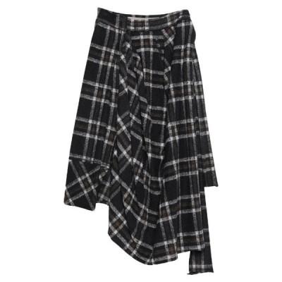 HIGH ハイ 七分丈スカート ファッション  レディースファッション  ボトムス  スカート  ロング、マキシ丈スカート ダークブルー