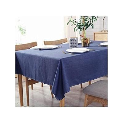 Bringsineソリッドコットンリネンテーブルクロス汚れ防止/spill-proof/防水レーステーブルカバーforキッチンダイニングテーブルトップ