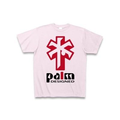 ヤシの木デザイン(赤) Tシャツ(ピーチ)