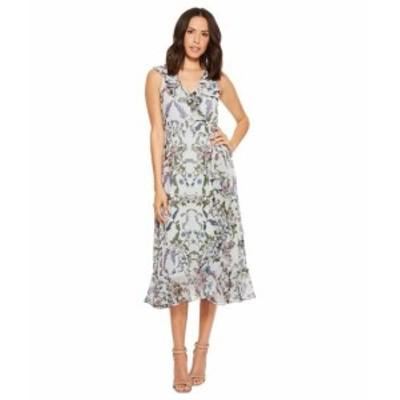 ドンナ モルガン レディース ドレス Floral Printed Chiffon Sleeveless Wrap Dress