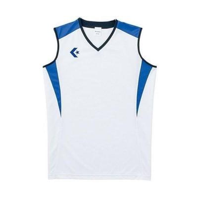 CONVERSE 5S ウィメンズゲームシャツ (CB351701) 色 : ホワイト/Rブルー サイズ : O